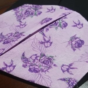 Purple Roses Cotton Double Layer Facemask